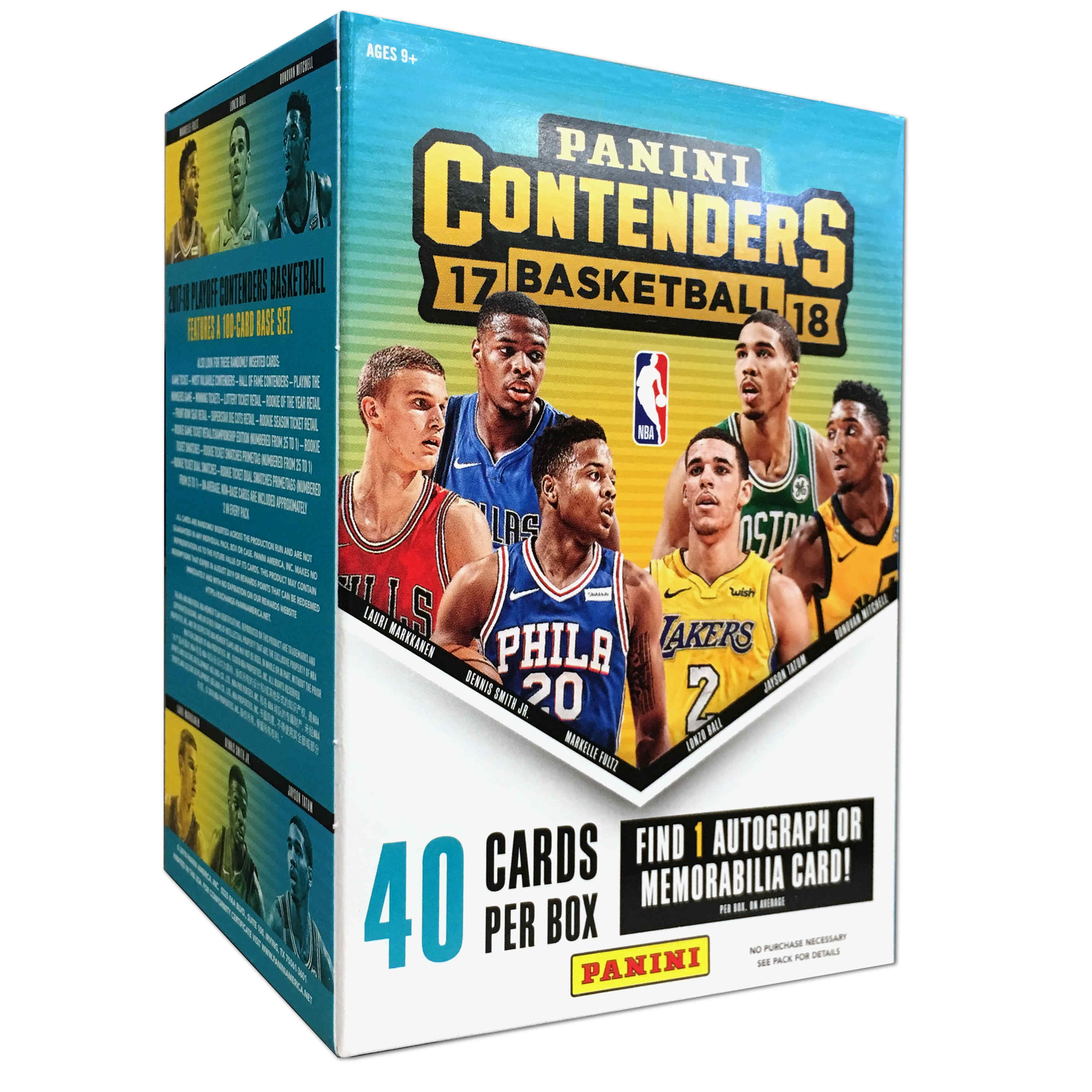 2017-18 Panini Contenders NBA Basketball Trading Cards Value Box by Panini