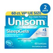 Unisom SleepGels Diphenhydramine HCI SoftGels 60ct