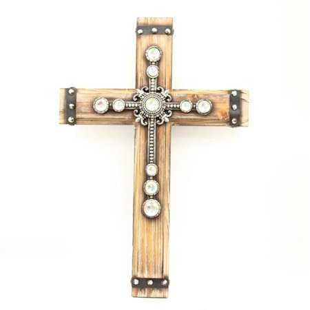 Western Moments 94382 Concho Wooden Wall Cross - 12.50 x 18.25 - Wooden Wall Cross