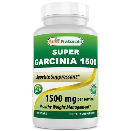Best Naturals  Garcinia 1500mg (120 Vcaps) (Best Dosage For Garcinia Cambogia)