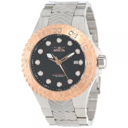Invicta Men's 12927 Pro Diver Automatic Black Textured Dial Stainless Steel Watch
