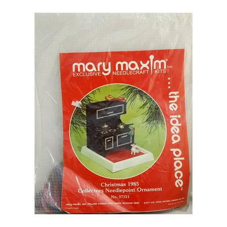 Mary Maxim Needlecraft Kit Christmas 1985 Collectors Needlepoint Ornament Vintage Stove No. (Vintage Needlepoint)