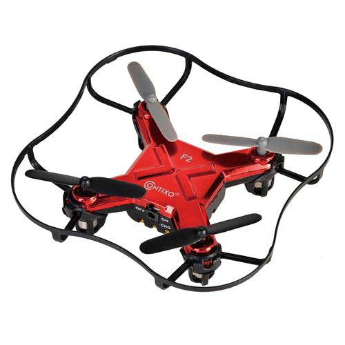 Contixo Mini Pocket Drone 4CH 6 Axis Gyro RC Micro Quadcopter 3D Flip Red by Contixo