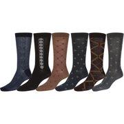 Sakkas Mens Pattern Dress Socks Assorted 6-Pack - 10-13