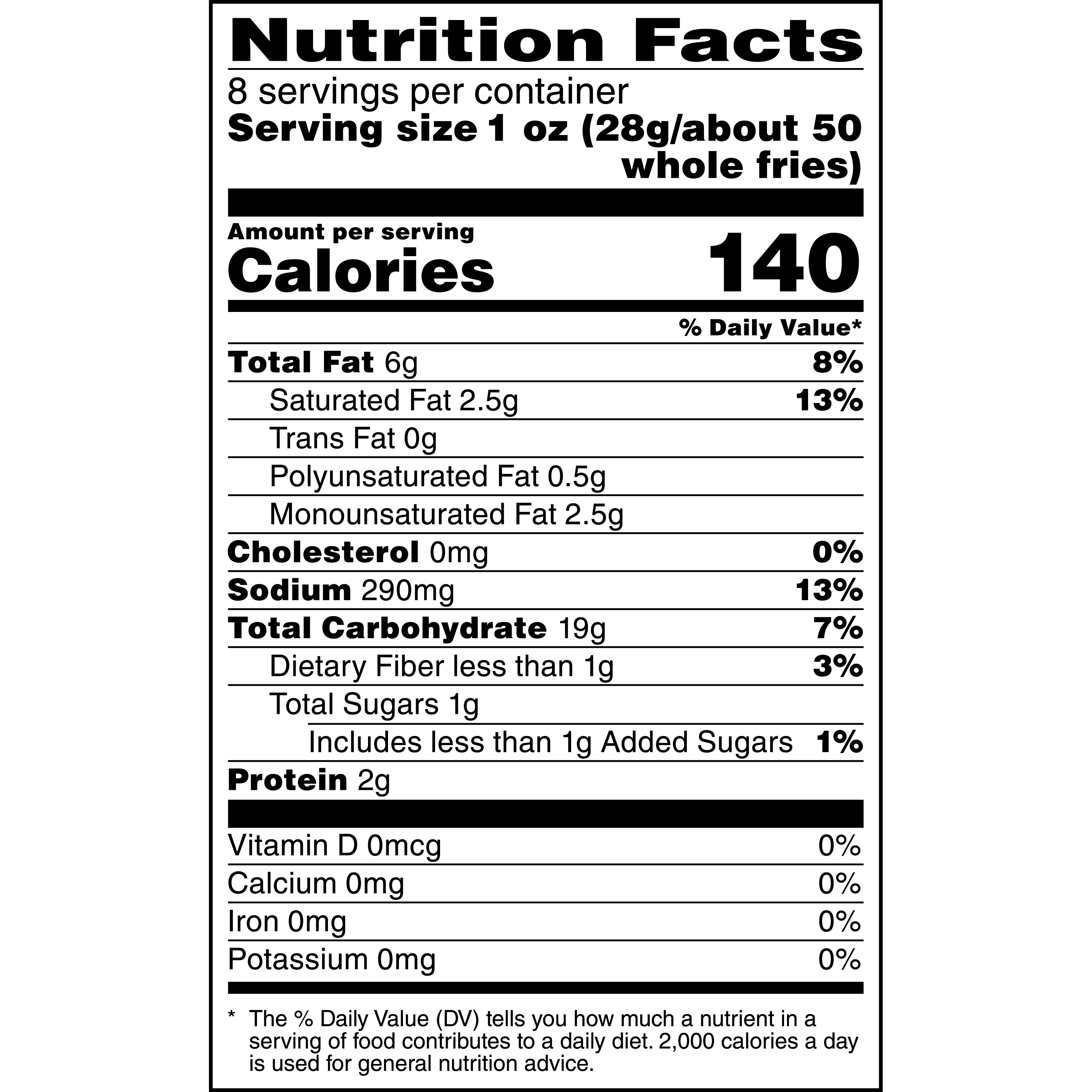 Mcdonalds French Fries Nutrition Facts - Nutrition Ftempo