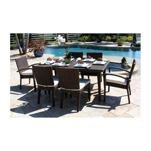 Soho 7 Pc. Dining Group in Rehau Java Brown Finish