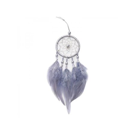 Topumt Mini Dream Catcher With Feather Home Wall Car Hanging Ornament Decor Wind Chime Birthday Graduation Handmade Gift