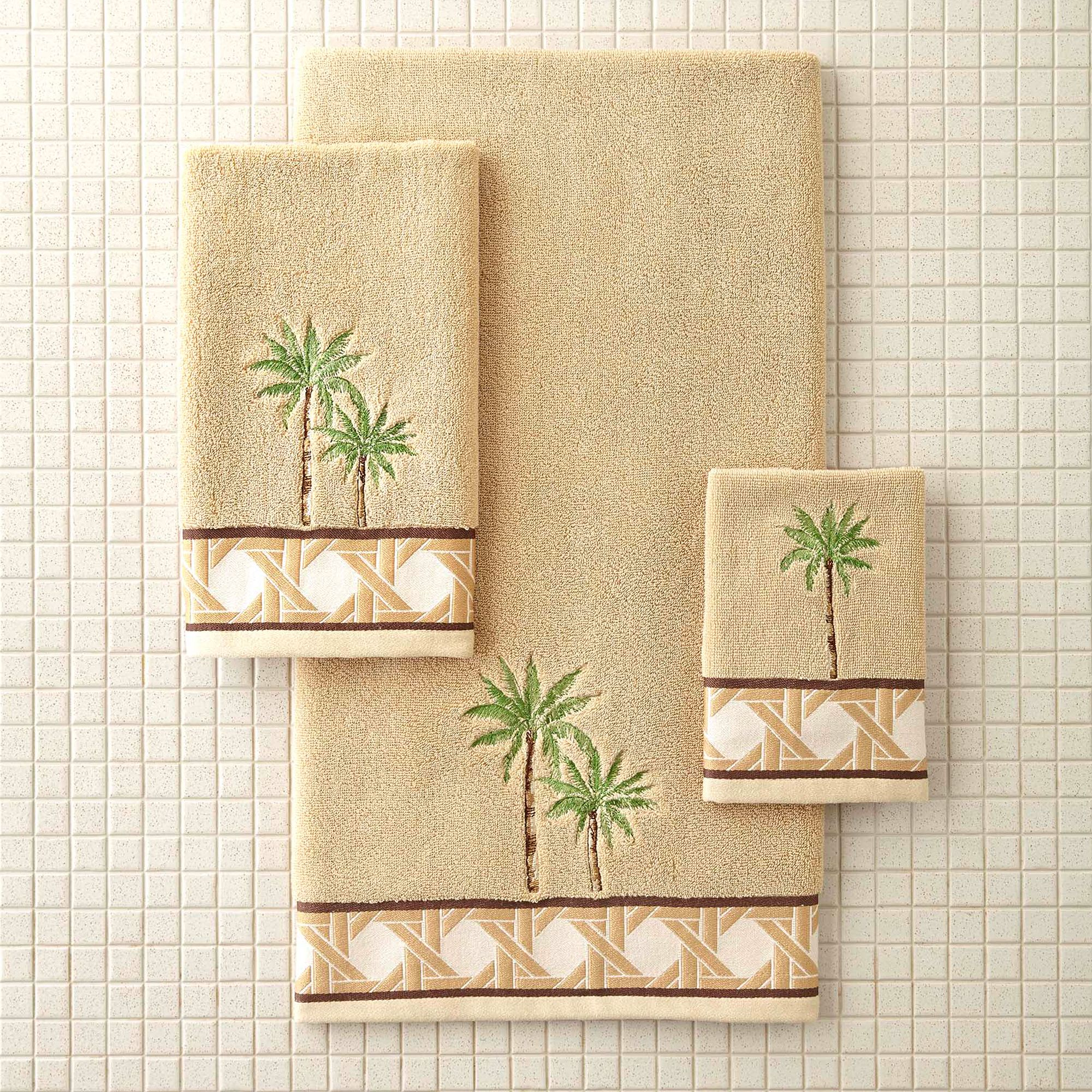 better homes and gardens palm decorative bath towel collection walmartcom
