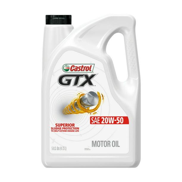 Castrol GTX 20W-50 Conventional Motor Oil, 5 Quarts