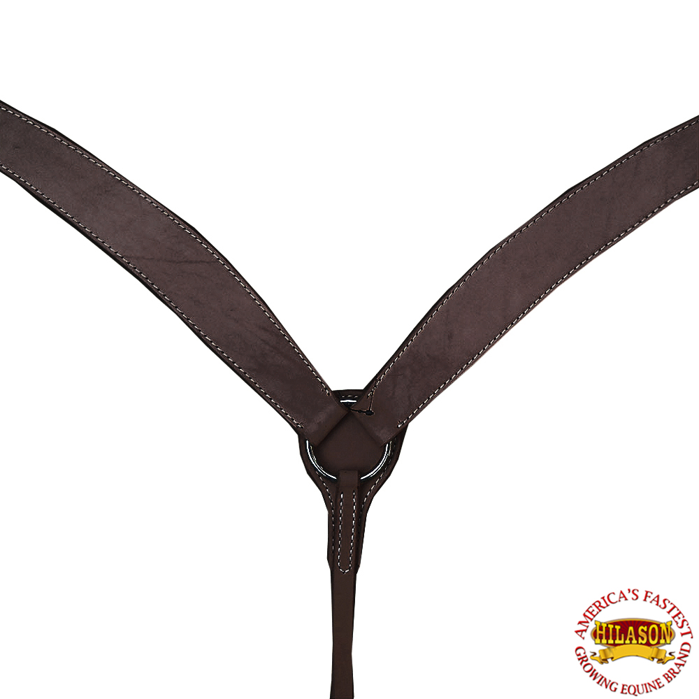 HILASON WESTERN AMERICAN LEATHER HORSE BREAST COLLAR DARK BROWN