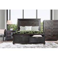Furniture of America Huston Contemporary USB Wooden Espresso Queen Bed