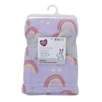 Parent's Choice Plush Baby Blanket, Purple Rainbow