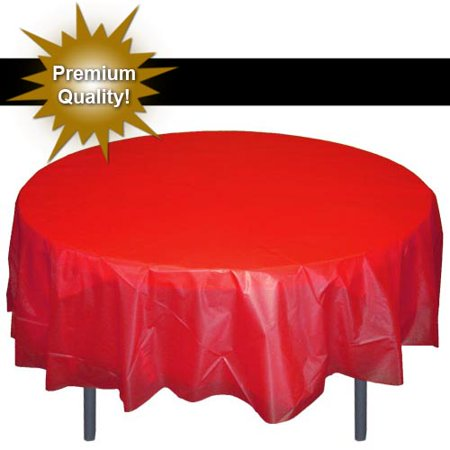 Cow Print Plastic Tablecloth (Exquisite 12 Pack Premium Red Plastic Tablecloth, 84 Inch)