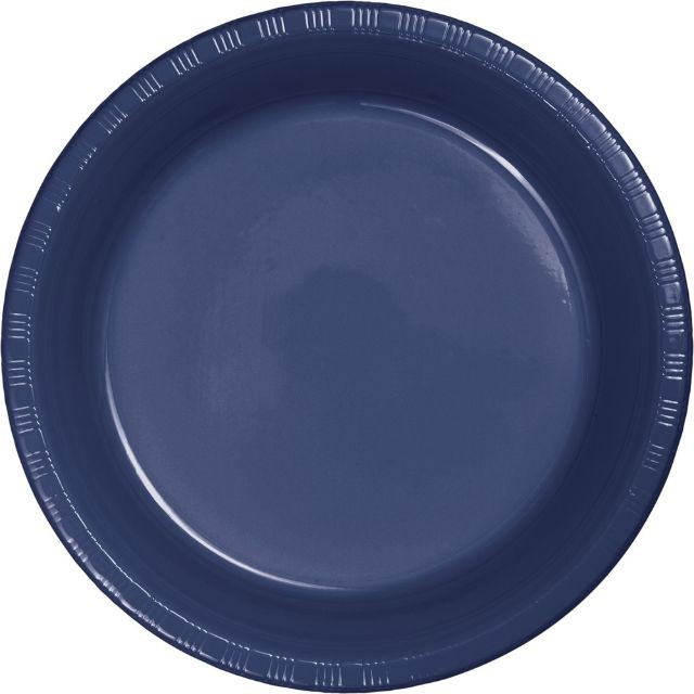 """Touch of Color Plastic Lunch Plate, 7"""", Navy, 20 Ct"""
