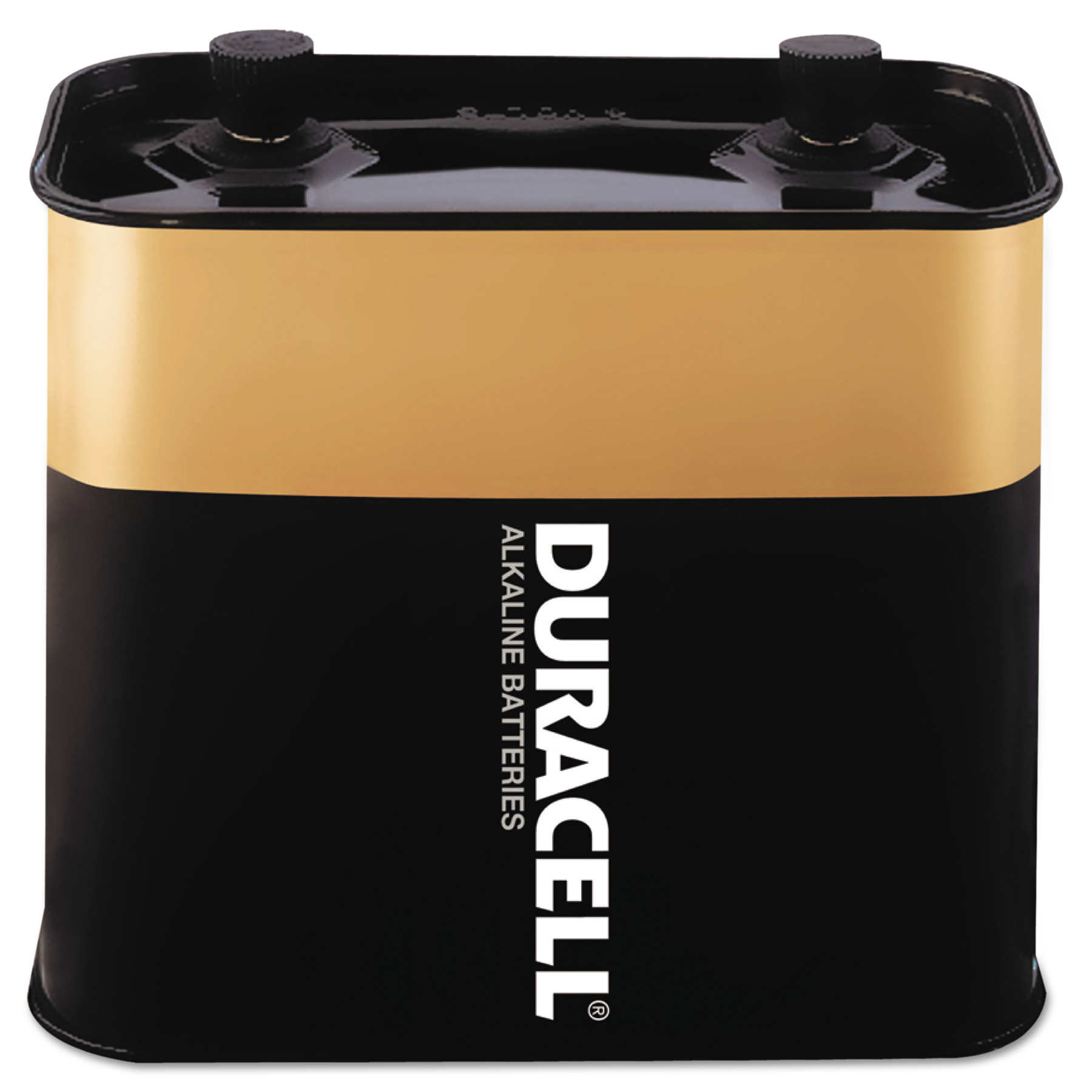 Duracell Alkaline Lantern Battery, 6 Volt, Screw-Top, 1/EA