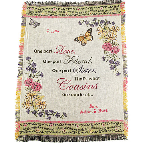 Personalized Cousins Afghan Throw