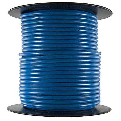 JT&T Products 166C 16 AWG Blue Primary Wire, 100' Spool