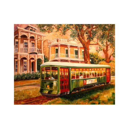 Garden District Metal (Garden District Streetcar Print Wall Art By Diane Millsap )