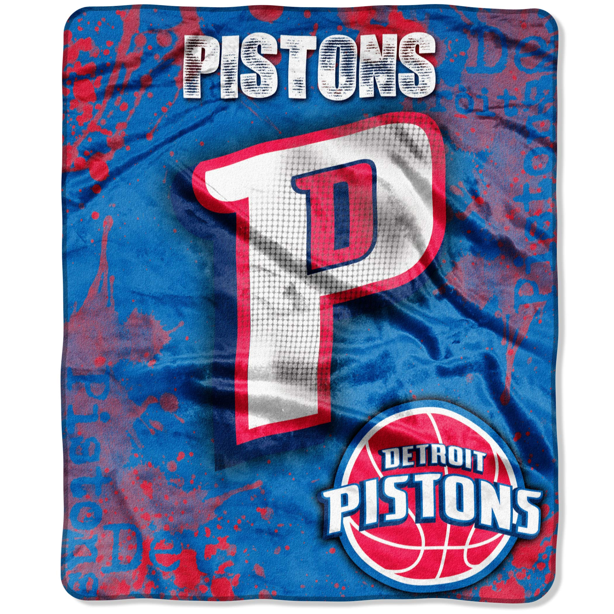 "Detroit Pistons The Northwest Company 50"" x 60"" Dropdown Plush Blanket - No Size"
