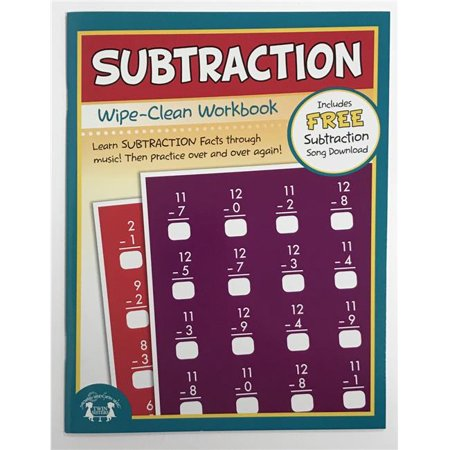 Creative Teaching Materials TW1226 Subtraction Wipe Clean Workbook - Teaching Supply Stores