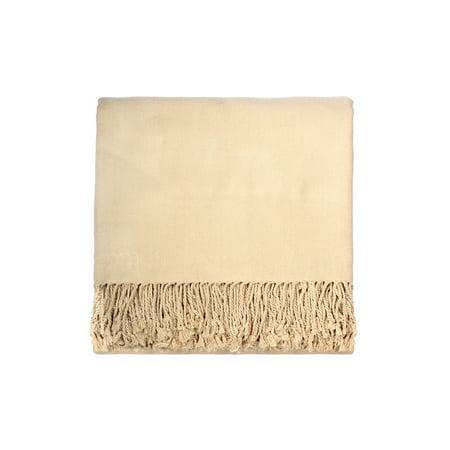 Rayon Cream - IGH Global Solid Rayon from Bamboo 50 x 70 Cream Throw