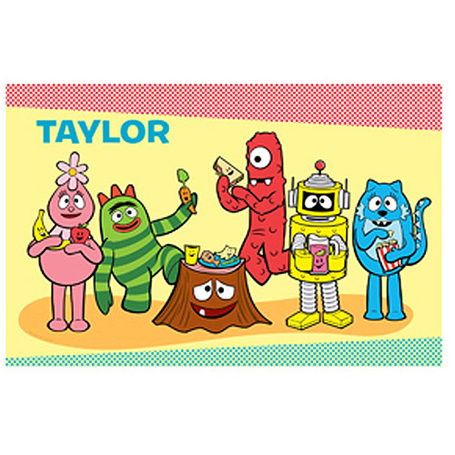 Personalized Yo Gabba Gabba! Tummy Party Picnic Placemat