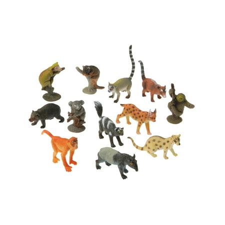 Rain Forest Animal Miniatures Set Diorama Recreation 12 Pack - Rainforest Toy Animals