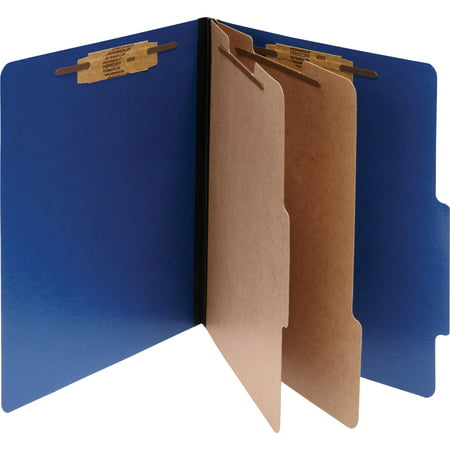 ACCO ColorLife PRESSTEX Classification Folders, Letter, 6-Section, Dark Blue, - Acco Brands File Folder