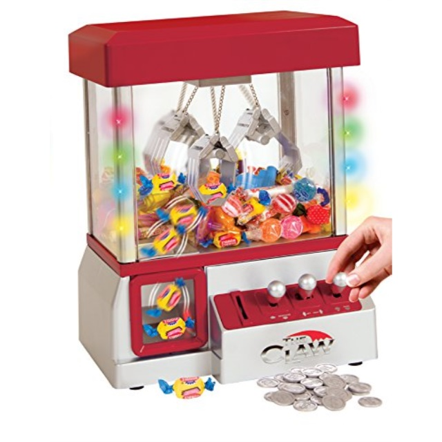 Click here to buy TSF Toys Electronic Claw Toy Grabber Machine With LED Lights And Toys.