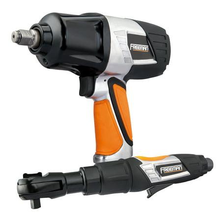 "Freeman FATIRCK 1/2"" Impact & 3/8"" Ratchet Wrench Kit with Socket Set"