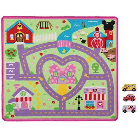 Melissa Doug Minnie Activity Rug Set