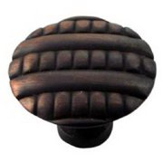 MNG Hardware MG-14713 1.38 in. Bronze Ribbed Knob