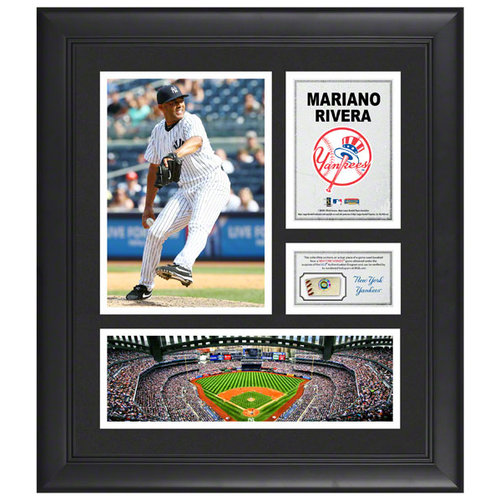 MLB - Mariano Rivera Framed 15x17 Multi-Photo Collage | Details: New York Yankees, with Game Used Baseball