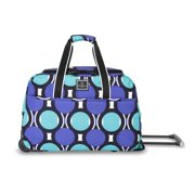 "17.5"" Rolling Duffel, Retro Dot Teal"