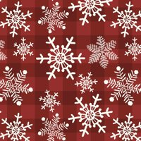 "David Textiles Snow Gingham Red 44"" Cotton Fabric"