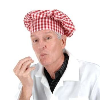 Gingham Fabric Chef's Hat (red) Party Accessory (1 count) (1/Pkg)