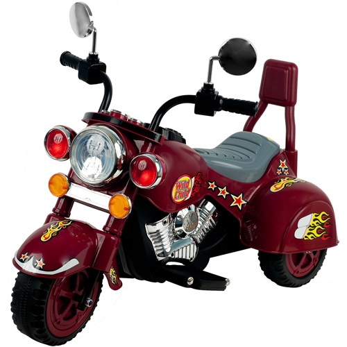 Lil' Rider Maroon Marauder 3-Wheel Motorcycle 6-Volt Battery-Powered Ride-On