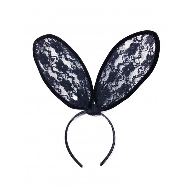 Kayso LL020WH White Lace Bunny Ears