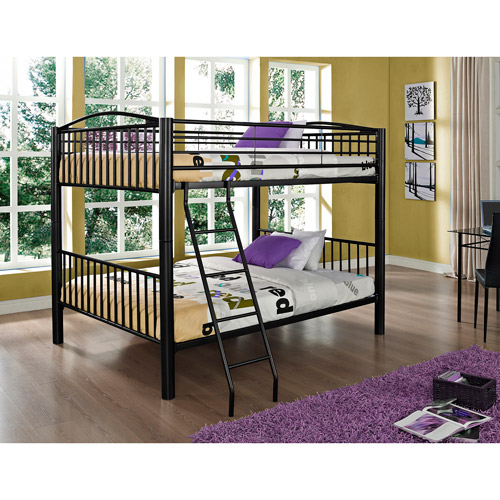 powell full over full metal bunk bed multiple colors