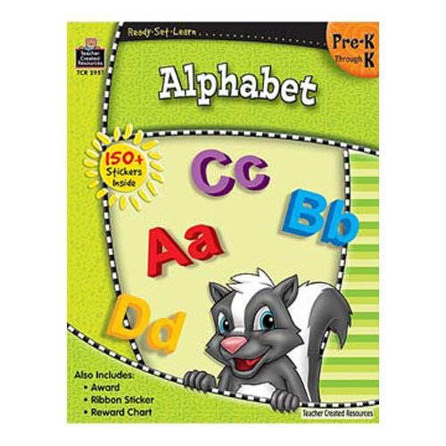 Teacher Created Resources Ready Learn Alphabet Grade Pk-K Book Set (Set of 3)
