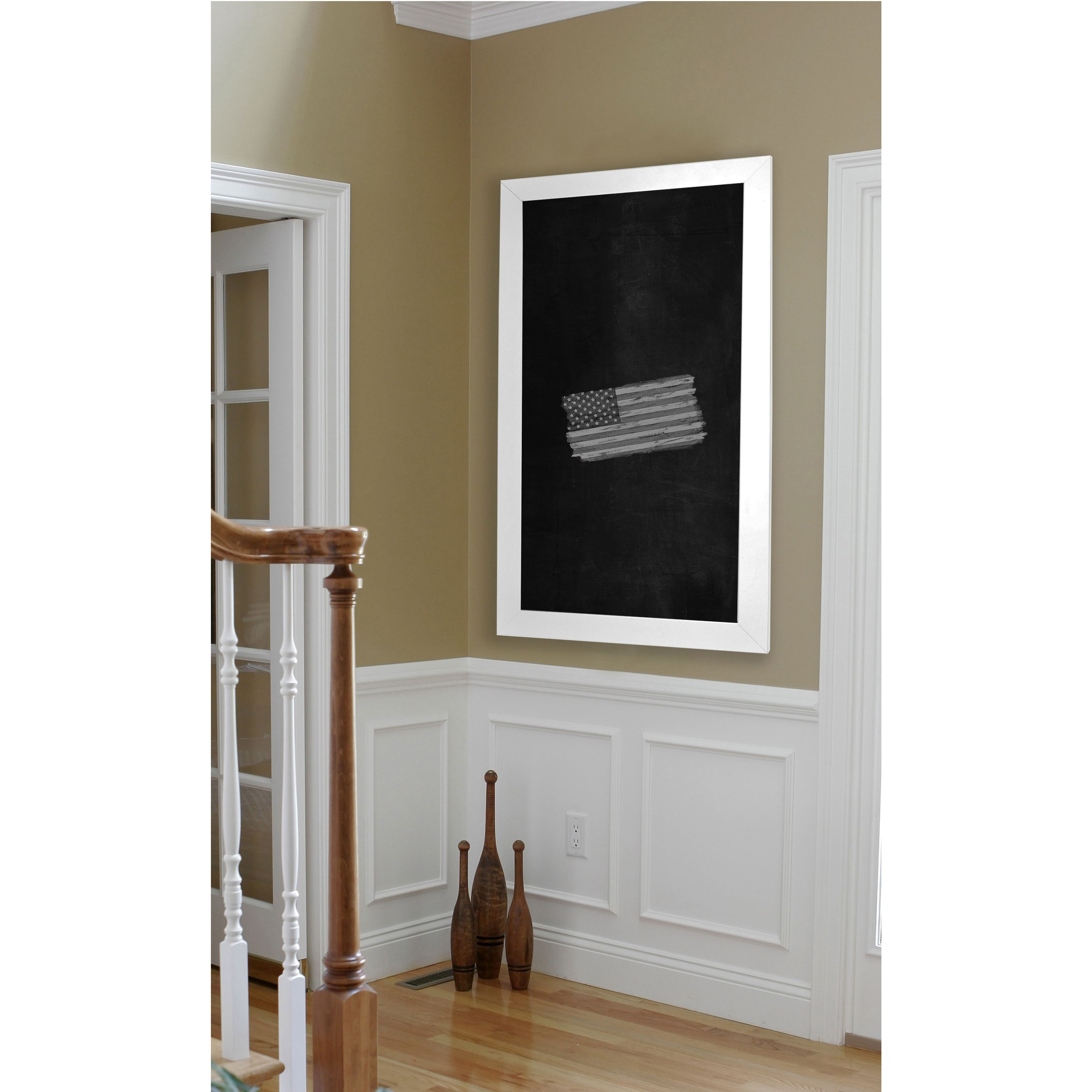 Rayne Mirrors American Made Rayne  White Satin Wide Blackboard/Chalkboard