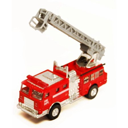 Fire Engine, Red - Showcasts 9921/4D - 4.75 Inch Scale Diecast Model Replica (Brand New, but NOT IN BOX)