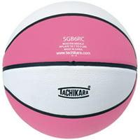 tachikara top grade rubber basketball, size 6, pink/white