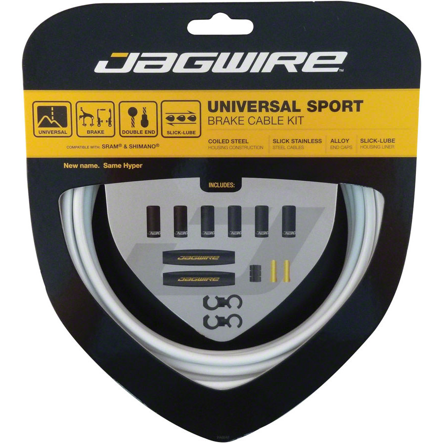 Jagwire Hyper Brake Kit White