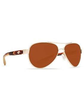 Costa Del Mar Loreto Rose Gold Square Sunglasses