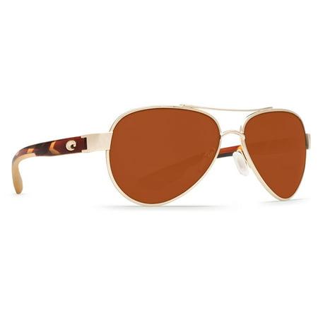 Costa Del Mar Loreto Rose Gold Square Sunglasses (Rose Del Mar)