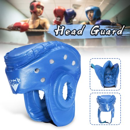 Head Guard - Youth/Adults Unisex Boxing PU Leather Head Guard Protector Helmet MMA Muay Thai Sanda Taekwondo Protector Headgear Boxing Sparring MMA Martial Arts S/M/L