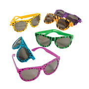 Bright Animal Print Sunglasses - Party Favors - 12 Pieces