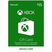 Xbox Microsoft $15 Gift Cards - 2 PACK UPC #696055207886
