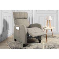 Living Room Slim Manual Recliner Chair (Beige)